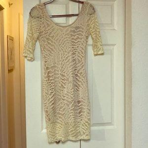 Dresses & Skirts - Cream color mini dress